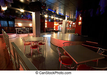 club, moderne, nuit