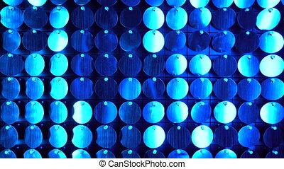 club, moderne, réflecteur, scintillement, utilisé, arrière-plan., art, mur, briller, projets, être, nuit, ajouté, boîte, cinétique, decoration., scintillements, résumé, bleu, moving., transitions, backgrounds.