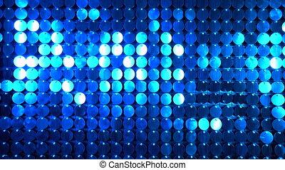club, moderne, réflecteur, scintillement, utilisé, arrière-plan., art, mur, projets, être, nuit, ajouté, boîte, cinétique, sequins, decoration., résumé, bleu, moving., transitions, étincelant, backgrounds.