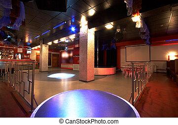 club, moderno, notte