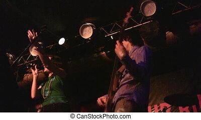 club, musique, groupe, chant, nuit