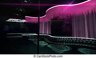 club nocturno, mezcla, color, karaoke