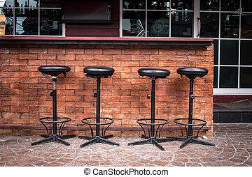 club nocturno, taburete, mostrador, barra, asiento