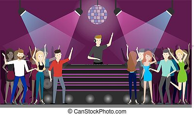 club, nuit, dance.