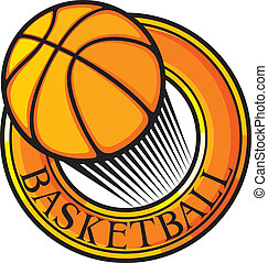 club, pallacanestro, emblema, sym, disegno