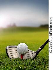 club, pelota, golf, pasto o césped