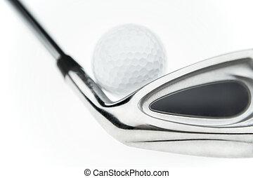 club, pelota, golf, y