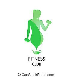club, pictogram, groene, fitness