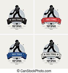 club, ping-pong, logo, design.