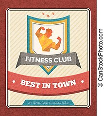 club, poster, fitness