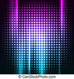 club, résumé, coloré, fond, disco