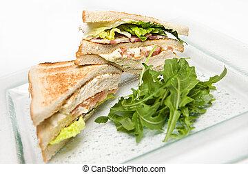 Club Sandwhich - Grilled chicken and bacon club sandwhich