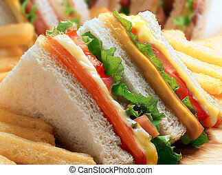 Club sandwich. - Club sandwich close-up.