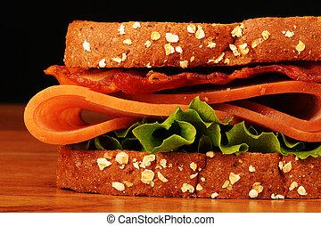 Club Sandwich. - Club sandwich with turkey,lettuce and...