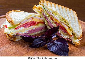 club sandwich , clubhouse sandwich - Club sandwiches made...