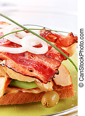 Club sandwich - Turkey and roast bacon sandwich - detail