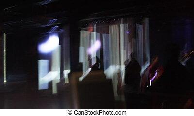 club, scène abstraite, nuit