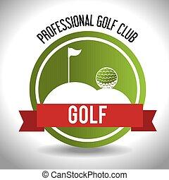 club, sportende, golf, pictogram