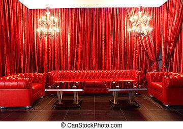 club, style, européen, luxe, nuit