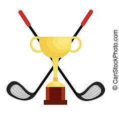club, trophée, championnat, golf