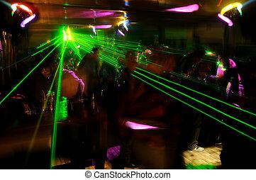 Clubbing atmosphere Saturday night