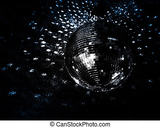 Mirrorball reflections on the ceiling of a night club