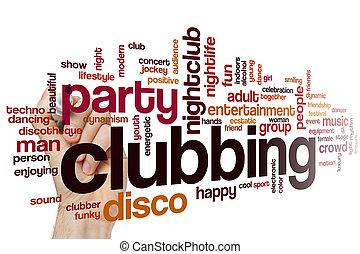 clubbing, wort, wolke