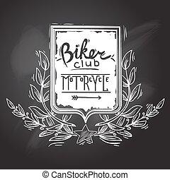 clube, biker, emblema