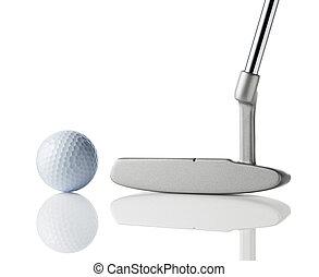 clube, bola, golfe
