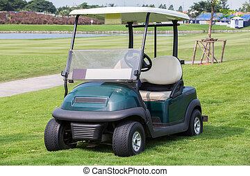 clube, car, golfe, ou, carreta