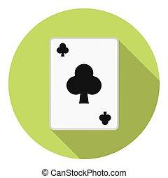 clube, cartão jogando, paleto