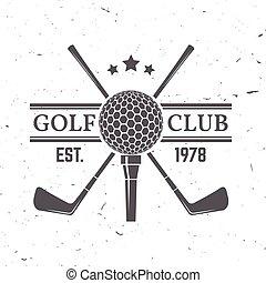 clube, conceito, golfe