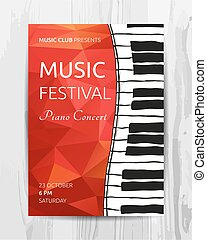 clube, concerto música, cartaz