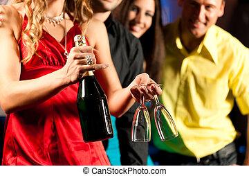 clube, coquetéis, barzinhos, ou, pessoas
