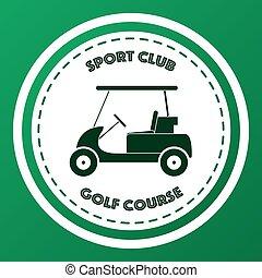 clube, curso, desporto, golfe, logotipo