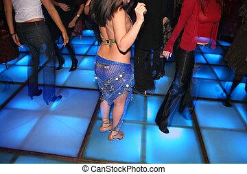clube dança, 2, noturna