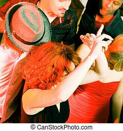 clube, dançar, discoteca