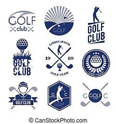 clube, golfe, etiqueta