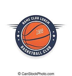clube, logotipo, basquetebol