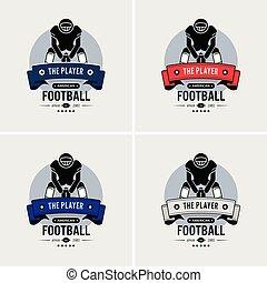 clube, logotipo, futebol americano, design.