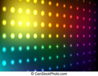 clube, luz, parede