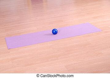 clube, .pilates, bola, condicão física