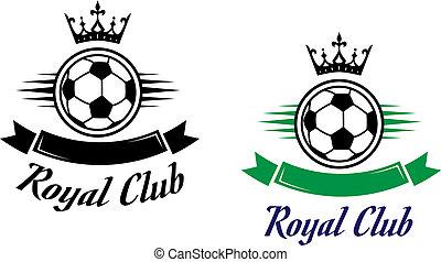 clube, símbolo, futebol, real, futebol, ou