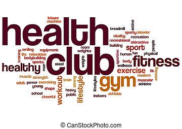 clube saúde, palavra, nuvem