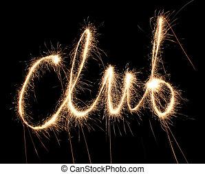 clube, sparkler