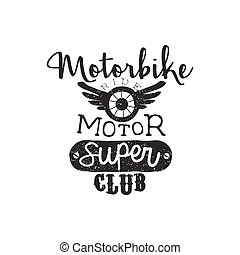 clube, vindima, emblema, motor, super