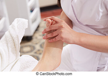 clube, wellness, tailandês, caminhe massagem