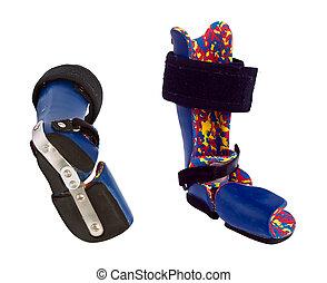 clubfoot, 装置, 訂正, 整形外科, children.