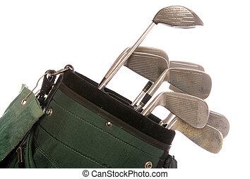 clubs, ensemble, golf, utilisé