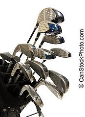 clubs, golf, blanc